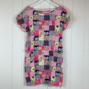 Lilly Pulitzer Large Mini Dress Check Floral
